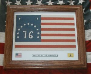 Framed-American-Revolution-Flag-13-Star-American-Flag-1776-Bennington-VT