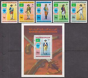 Mauritania-Sc-341-C163-MLH-MNH-1976-US-Bicentennial-Miniature-Sheets
