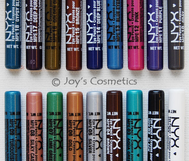 "3 NYX Waterproof Retractable Eye Liner ""Pick Your 3 Color"" *Joy's cosmetics*"