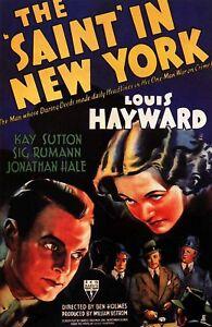 16mm-Feature-Film-THE-SAINT-IN-NEW-YORK-1938-Louis-Hayward-RKO-Mystery-Movie