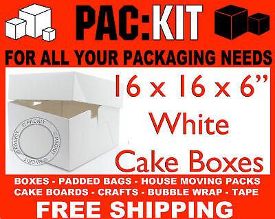 "White Cake Boxes 8 10 12 14 16"" Inch Wedding Birthday"
