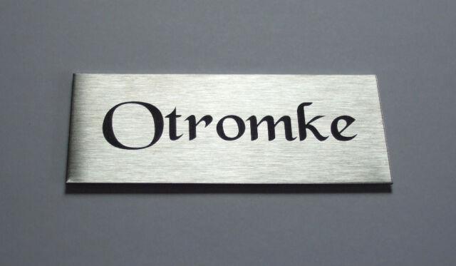 Edelstahlschild,Namensschild,Türschild, Klingelschild,BriefkastenXL12 x 5 cm