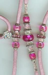 NEW-CUSTOM-BEADED-DOG-SHOW-LEAD-LEASH-SNAPLEAD-PINK