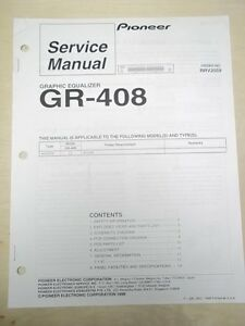 Pioneer-Service-Manual-GR-408-Graphic-Equalizer-Original-Repair