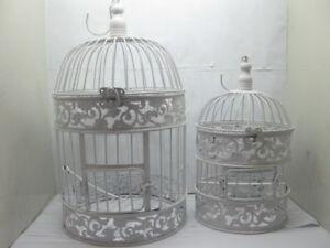 1Set-White-Flower-Luxury-Hanging-Bird-Cage