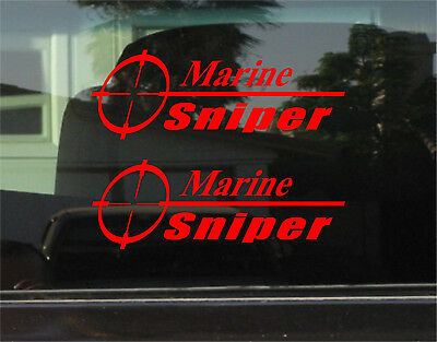 MARINE SNIPER VINYL DECAL / STICKER PAIR