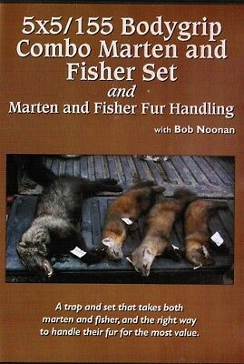 DVD,Noonan -5X5/155 BODYGRIP COMBO MARTEN & FISHER SET, trapping, trap