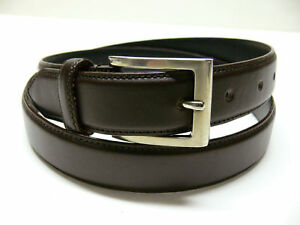 New-Men-039-s-Casual-Dress-Leather-Belt-Black-or-Brown-E2