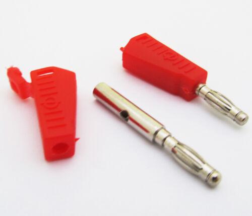 8pcs Radioshack Stackable 4mm Banana male Plug Jack Red+Black