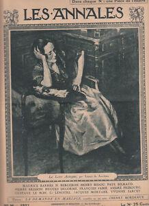 Humble Les Annales Politiques 1921 N°1969- Barrès - Zanta