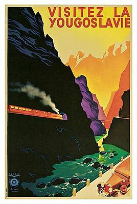 1935 Yugoslavia Tourism Travel A3 Poster Reprint