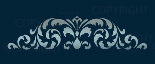 LARGE WALL BORDER DAMASK STENCIL PATTERN FAUX MURAL  #1021