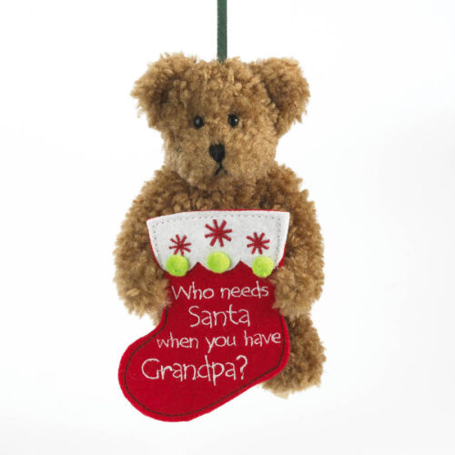 "1258 Boyds Bear Christmas Ornament 2011 ""Gramps"" Grandpa New"