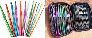 New-22pcs-multi-colour-Aluminum-Crochet-Hooks-Needles