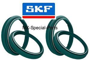 2x-SKF-SHOWA-47-forcella-polvere-guarnizioni-tappo-olio-SUZUKI-RMZ-RM-Z-250-450