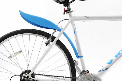 BIKE REAR CLIP ON SCOOP MUDGUARD QUICK FIT  MTB, FIXIE , SPORTS OR ANY BIKE BLUE