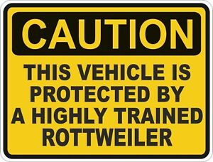 1x-CAUTION-PROTECTED-BY-Rottweiler-WARNING-STICKER-FUN