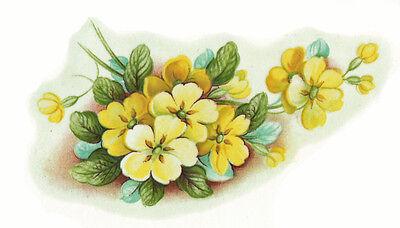 Ceramic Decals Yellow Primrose Floral Flower