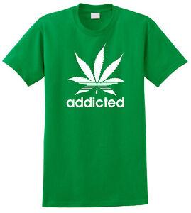ADDICTED-Marijuana-T-shirt-Icky-Sticky-Weed-Chronic