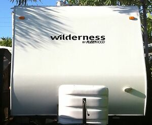 2- Wilderness Decal colors RV sticker decals large