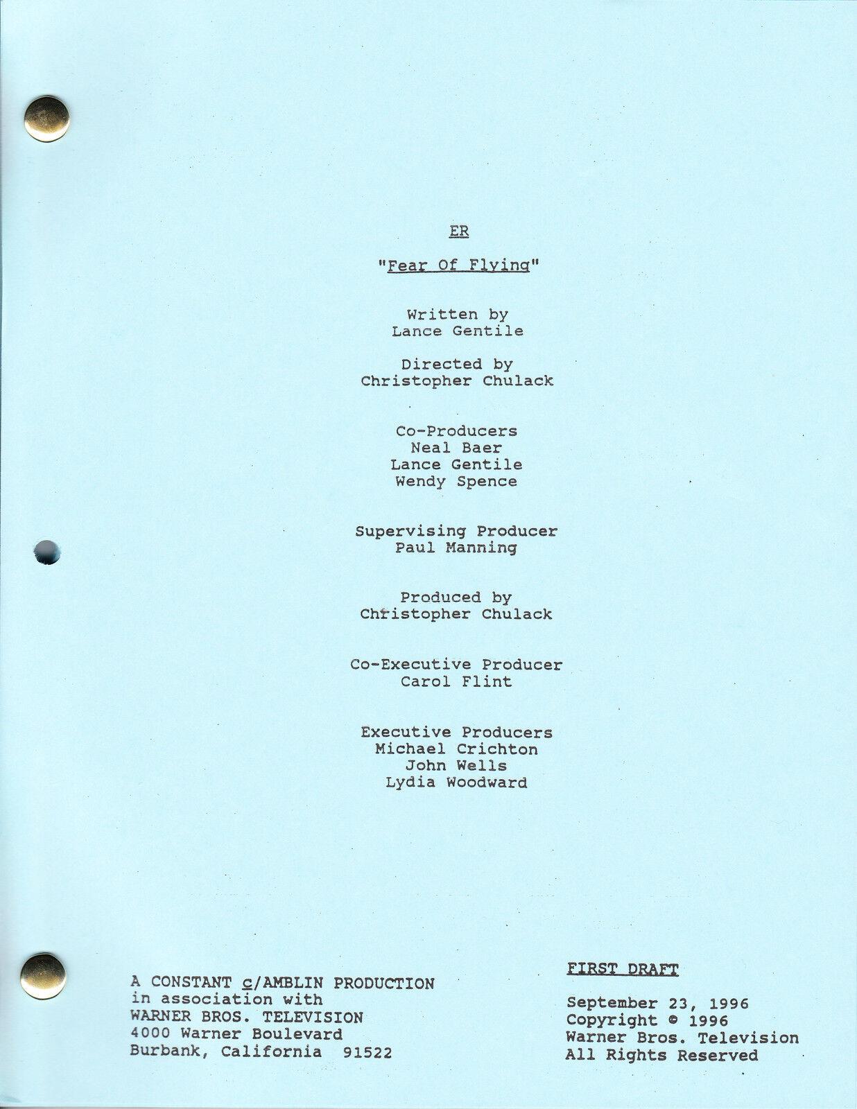 "ER show script ""Fear Of Flying"" 1"