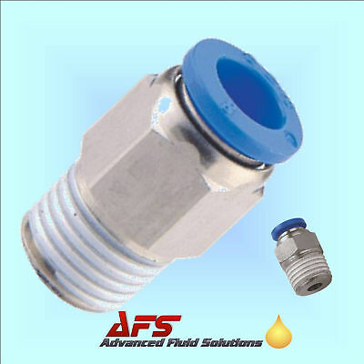 Straight Push In Fitting Nylon Tube Connector Pneumatic