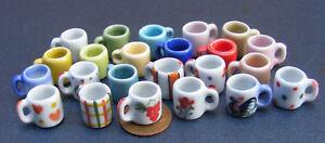 1-12-Scale-2-Ceramic-Coffee-Mugs-Dolls-House-Miniature-Kitchen-Drink-Accessory