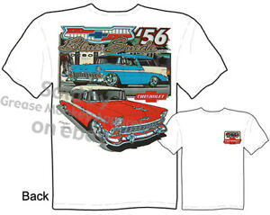 1956 Chevy T Shirt Classic Car T Shirts 56 Chevrolet Nomad Tee Sz