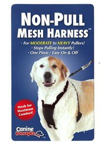 11103-Mesh-Dog-Harness-Non-Pull-Black-L-XL-16-24-034-Neck-Up-to-90-Lbs-One-Piece
