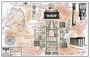 Rene-Belloq-s-Map-Room-drawing-prop-Indiana-Jones-Raiders-of-the-Lost-Ark-ROTLA