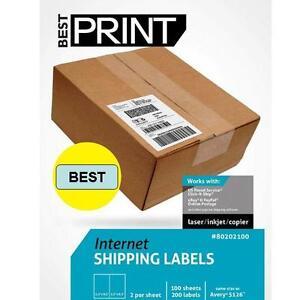 Best-Print-6-000-Labels-Half-Sheet-8-5-x-5-034-Click-amp-Ship-UPS-Paypal-Ebay-Fedx