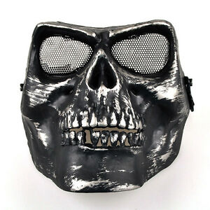 Death-Skull-Bone-Airsoft-Full-Face-Protect-Safety-Mask