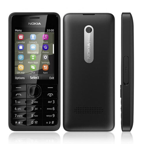 Brand New Nokia 301 - Black (Unlocked) 3G-Bluetooth Big Button Phone