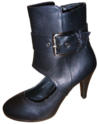 41 40 Stiefel 35 Boots 39 Schwarz 37 High Heels Offener Neu Ankle Spann 36 38 4L5ARj