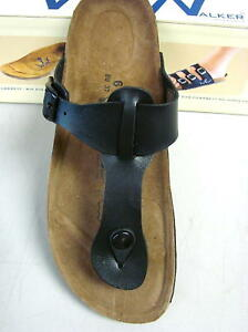 NEW-WOMENS-WORLD-WALKER-licensed-by-BIRKENSTOCK-THONG-BLACK-8-39