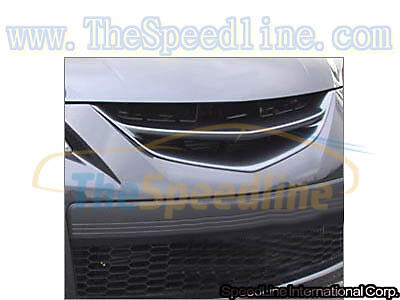 07 08 09 Mazdaspeed3 Carbon Fiber Front Emblemless Grille MPS3 MPS 3 CF