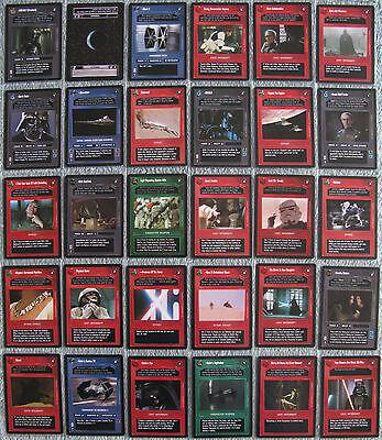 Star Wars CCG Premiere Limited R1 Cards Part 1/2 (Dark Side, Rare)