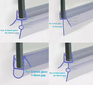 Bath Shower Screen Rubber Plastic Seal For 6 8mm Curved