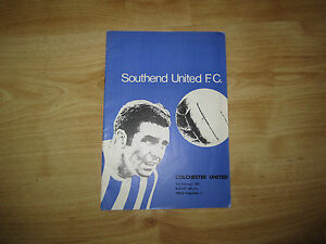 SOUTHEND UNITED V COLCHESTER UNITED FOOTBALL PROGRAMME 21021970 - <span itemprop=availableAtOrFrom>Erith, Kent, United Kingdom</span> - SOUTHEND UNITED V COLCHESTER UNITED FOOTBALL PROGRAMME 21021970 - Erith, Kent, United Kingdom