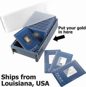 Pamp Suisse Storage Box For 25 Bars 1 Gram To 1 Oz Gold