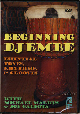 Beginning Djembe Essential Tones, Rhythms & Grooves DVD Learn How to Play Tutor