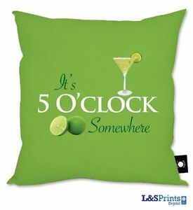 ALAN-JACKSON-IT-039-S-FIVE-OCLOCK-SOMEWHERE-GREEN-DESIGN-CUSHION-18-034-X-18-034