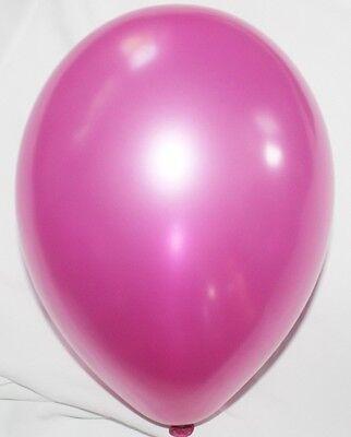 50 Luftballons metallic Farbe, freie Farbwahl
