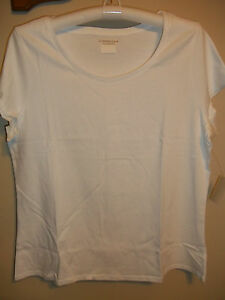 NEW-COLDWATER-CREEK-WHITE-PLUS-SIZE-1X-16W-18W-ESSENTIAL-SCOOPNECK-TEE-TOP