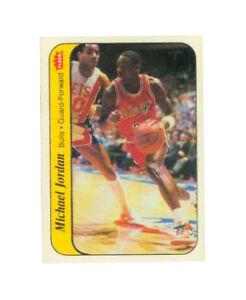 1986 1987 Fleer Stickers Michael Jordan Chicago Bulls 8 Basketball Card