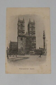 London-Westminster-Abbey-Old-Postcard