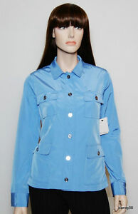 Nwt-99-Calvin-Klein-Safari-Nylon-Jacket-Coat-Top-Parka-Periwinkle-Blue-S