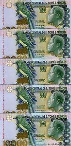 LOT-St-Thomas-Prince-5-x-10-000-10000-Dobras-2004-P-66-UNC