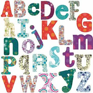 large letter stickers boho alphabet big room decor wall stickers vinyl removable 22687 | s l300