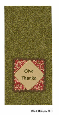 """(1) Give Thanks Cotton Kitchen Country Home Decor Linens 19""""x28"""" Dish Towel"""